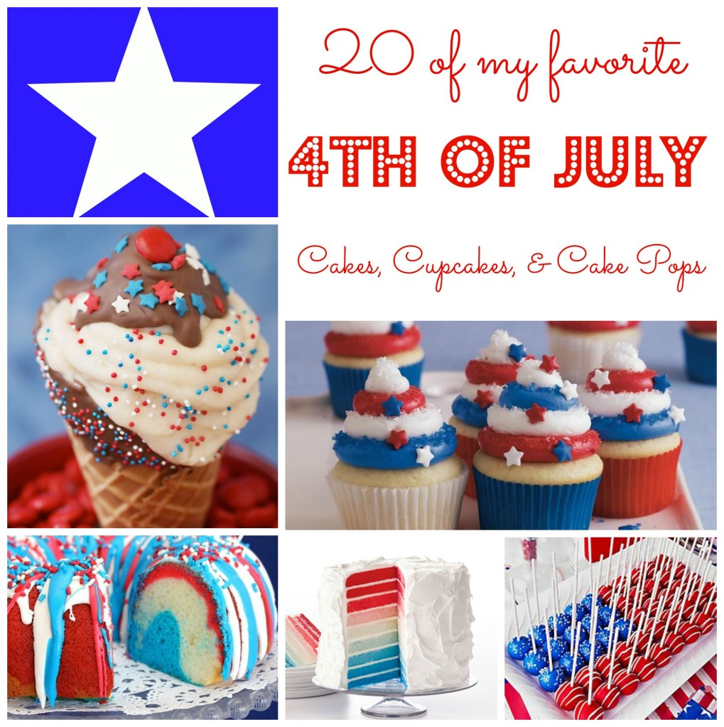 ... with you. Here are some of my favorite 4th of July cake ideas