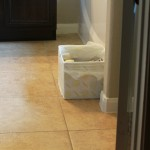 Go Green in Your Bathroom | DIY Upcycled Recycle Bin