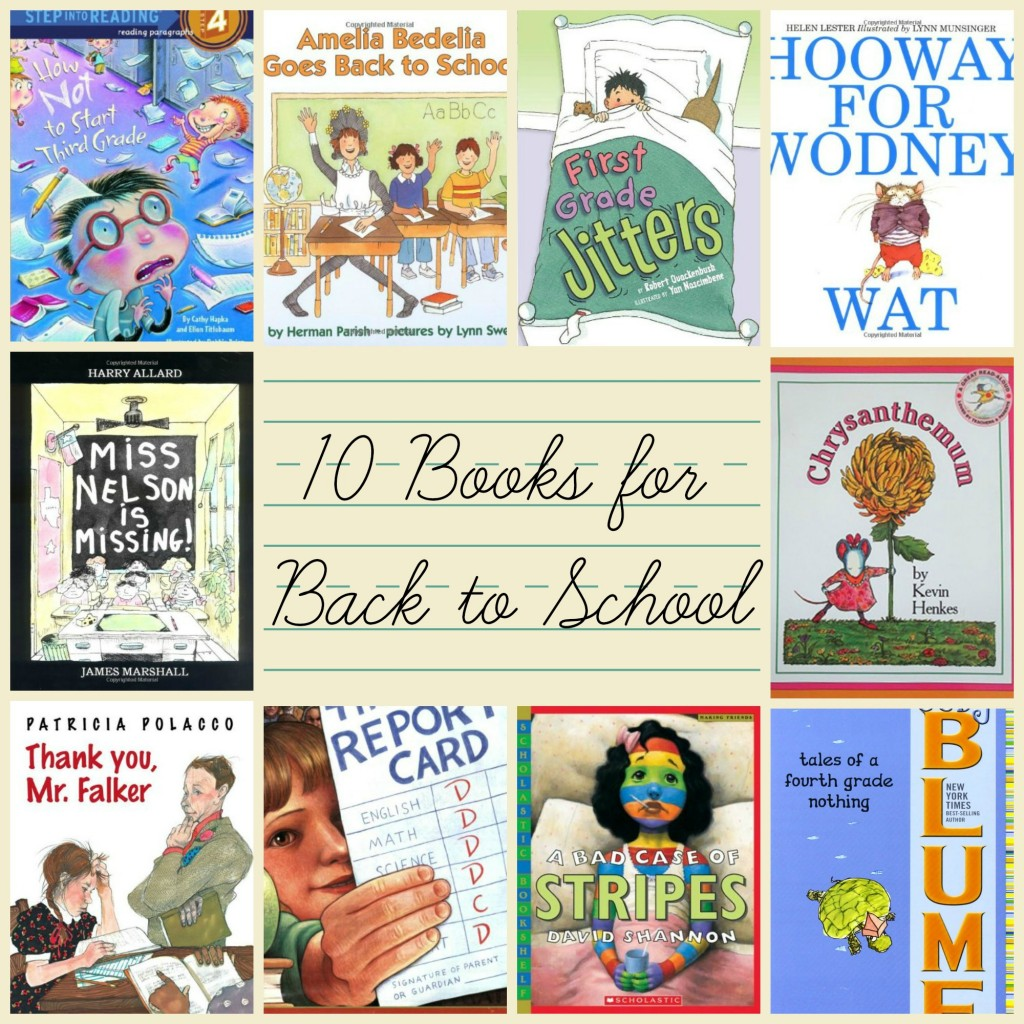 10 books for children for back to school