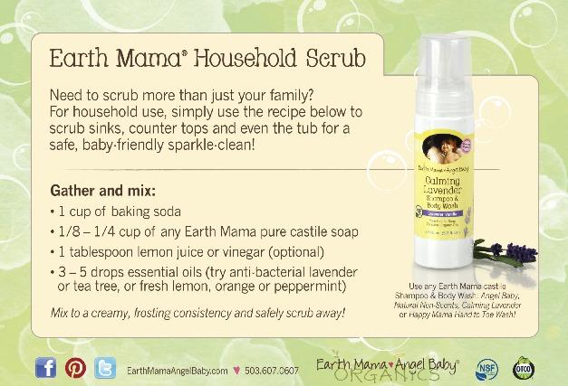 earth mama household scrub recipe