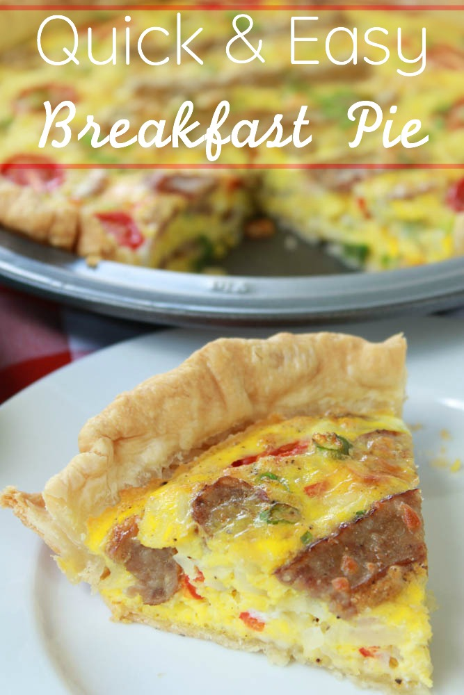 Enjoy a delicious breakfast with this quick and easy breakfast pie recipe.