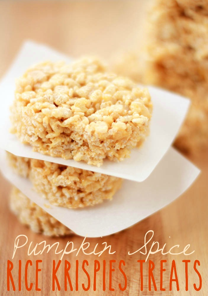 Pumpkin Spice Rice Krispies Treats | Simply Being Mommy