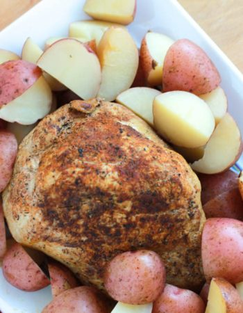 pork sirloin tip roast with red potatoes