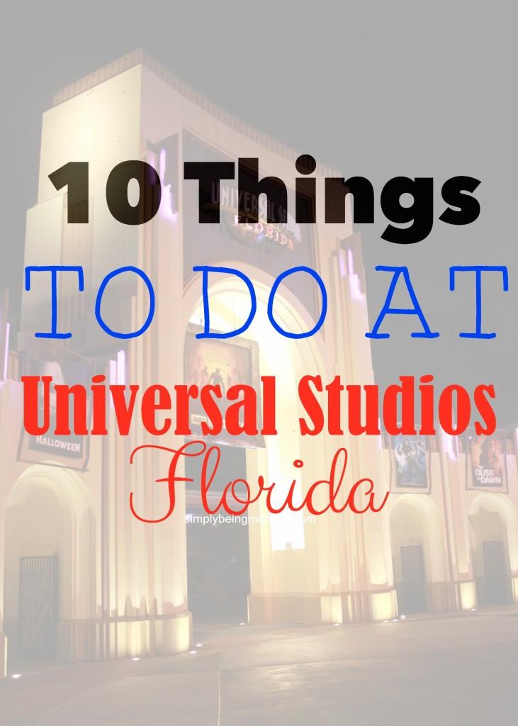 things to do at universal studios florida