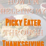 how im helping my picky eater through thanksgiving
