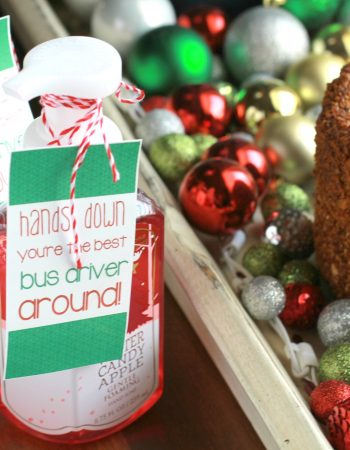 Best Bus Driver Gift Idea using Bath & Body Works hand soap and simple tag