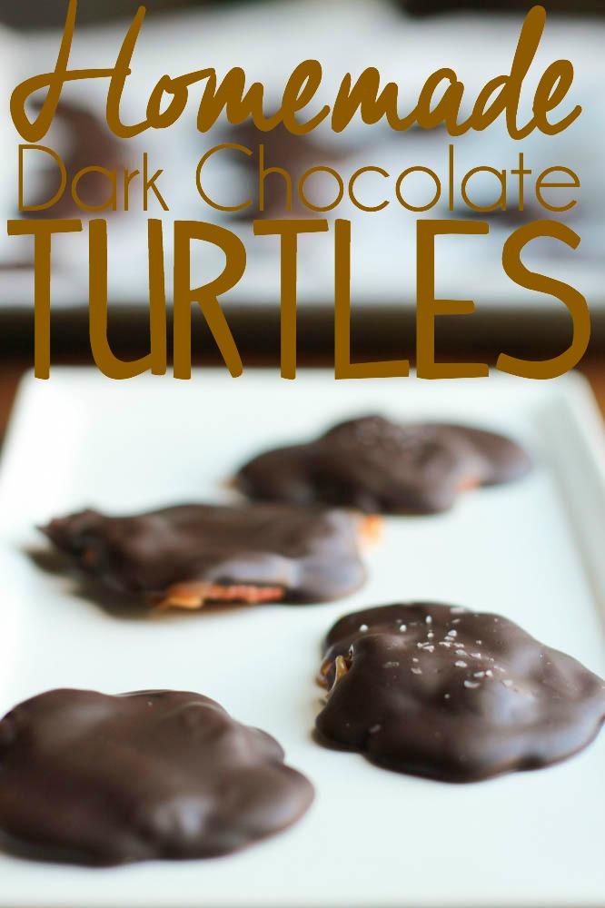 homemade dark chocolate turtles recipe