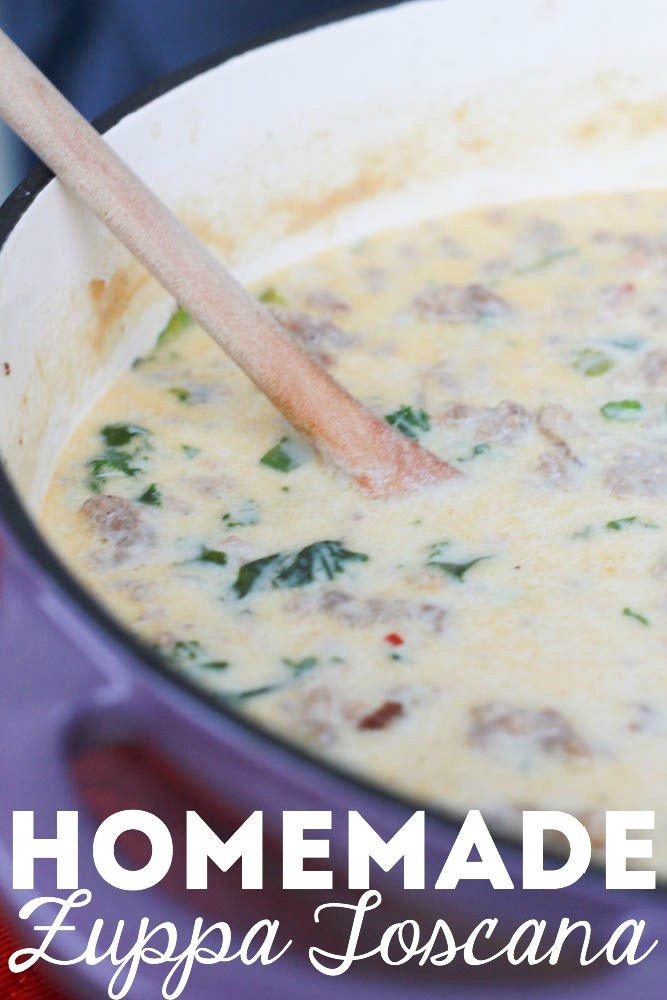 Homemade Zuppa Toscana Soup from Olive Garden