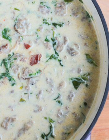 Homemade Zuppa Toscana Soup just like you can get from Olive Garden