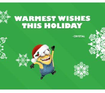 minions holiday card fandango