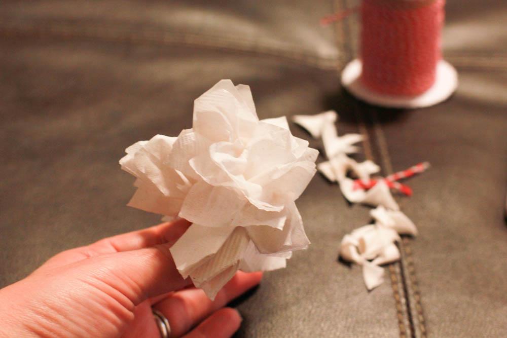 Paper Napkin Flower Tutorial