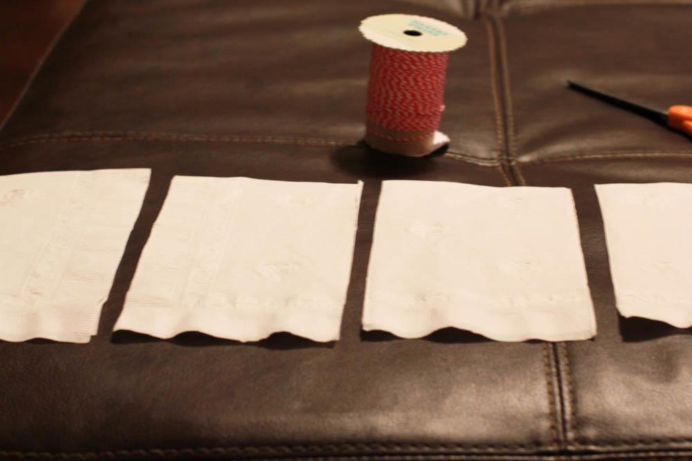 Paper Napkin Flower Tutorial using dinner napkins from CVS