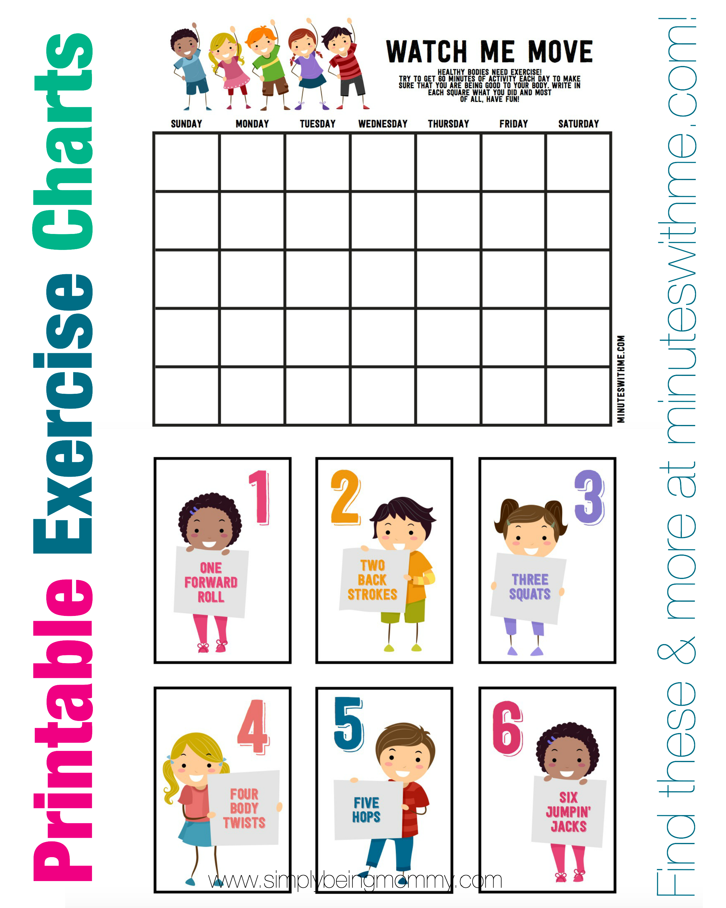 Exercise Charts For Kids Pictures | myideasbedroom.com