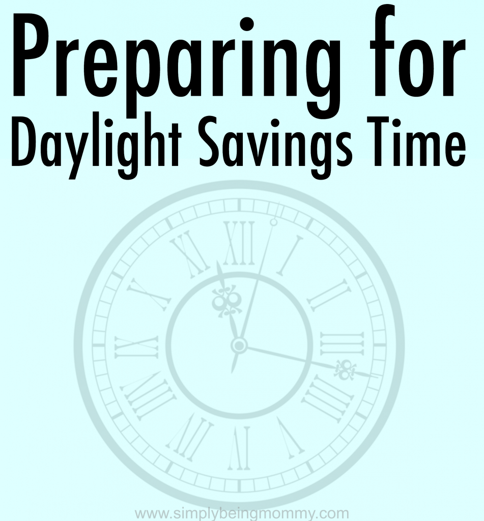 preparing for daylight savings time