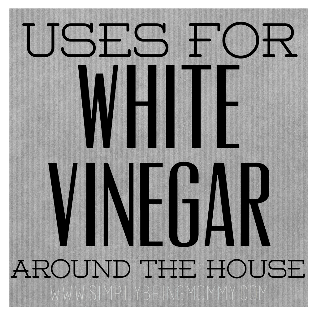 Did you know there are so many uses for white vinegar around the house. This post shows many of the ways you can use white vinegar around the house.