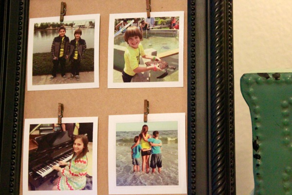 Repurpose an old thrift store picture frame and create a beautiful DIY Clothespin Picture Frame.