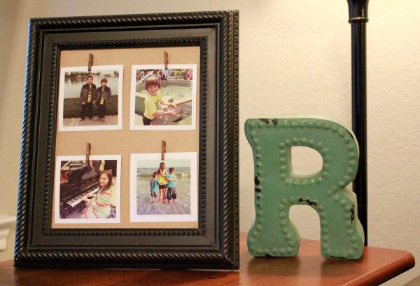DIY Clothespin Picture Frame | Simply Being Mommy