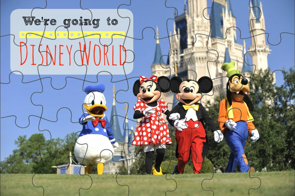 "Learn how to make this ""We're Going to Disney World"" Printable Puzzle on the blog now!"