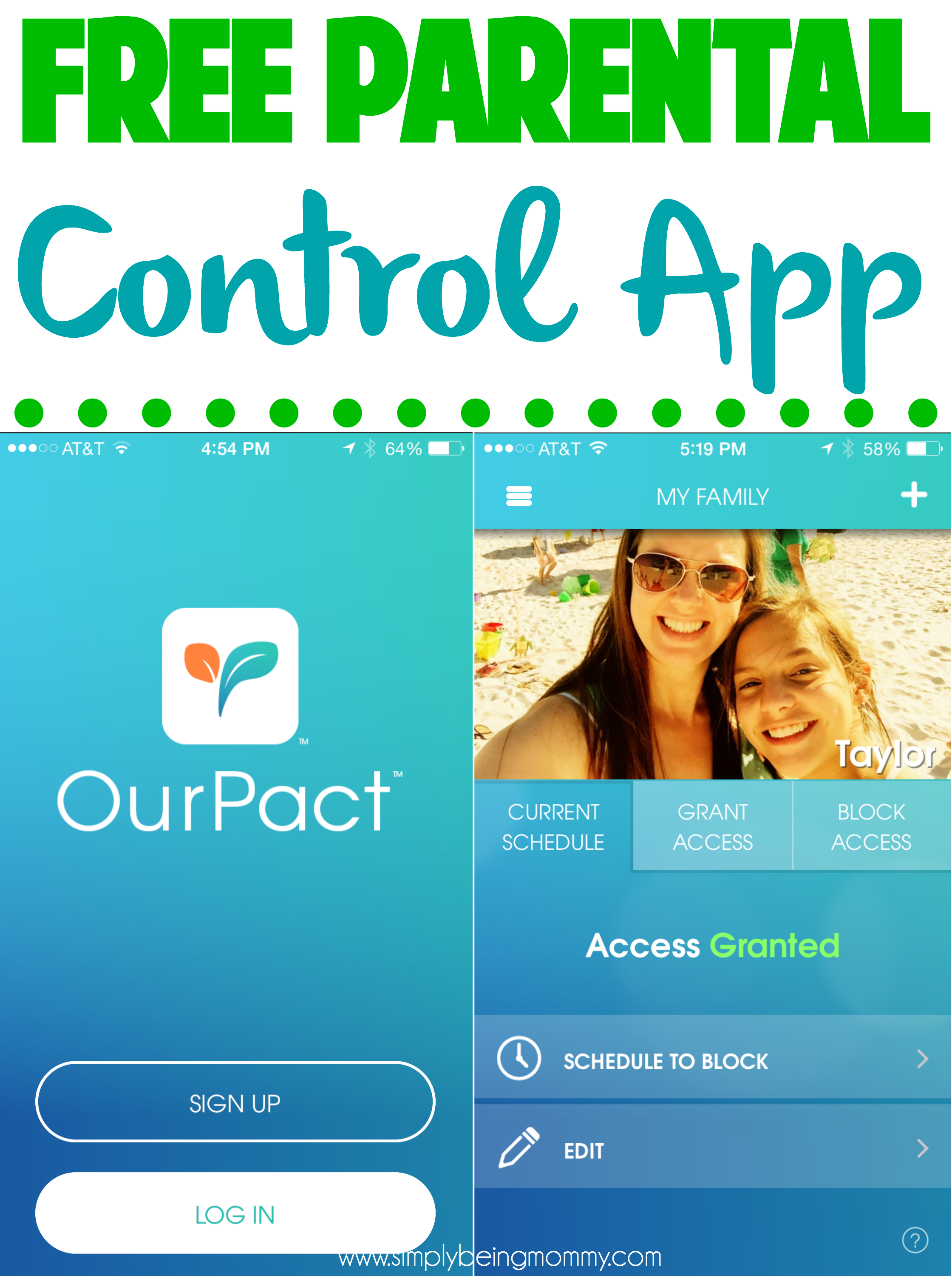 Manage screen time easily with OurPact, a free parental control app for electronic devices.