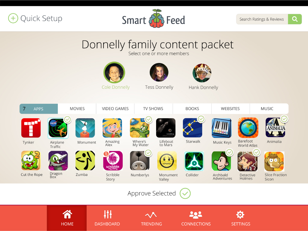 Need a way to see what your children are doing on their electronic devices? Consider backing the SmartFeed Kickstarter Campaign and gaining access to a way to personalize your child's activity while on their tablets.