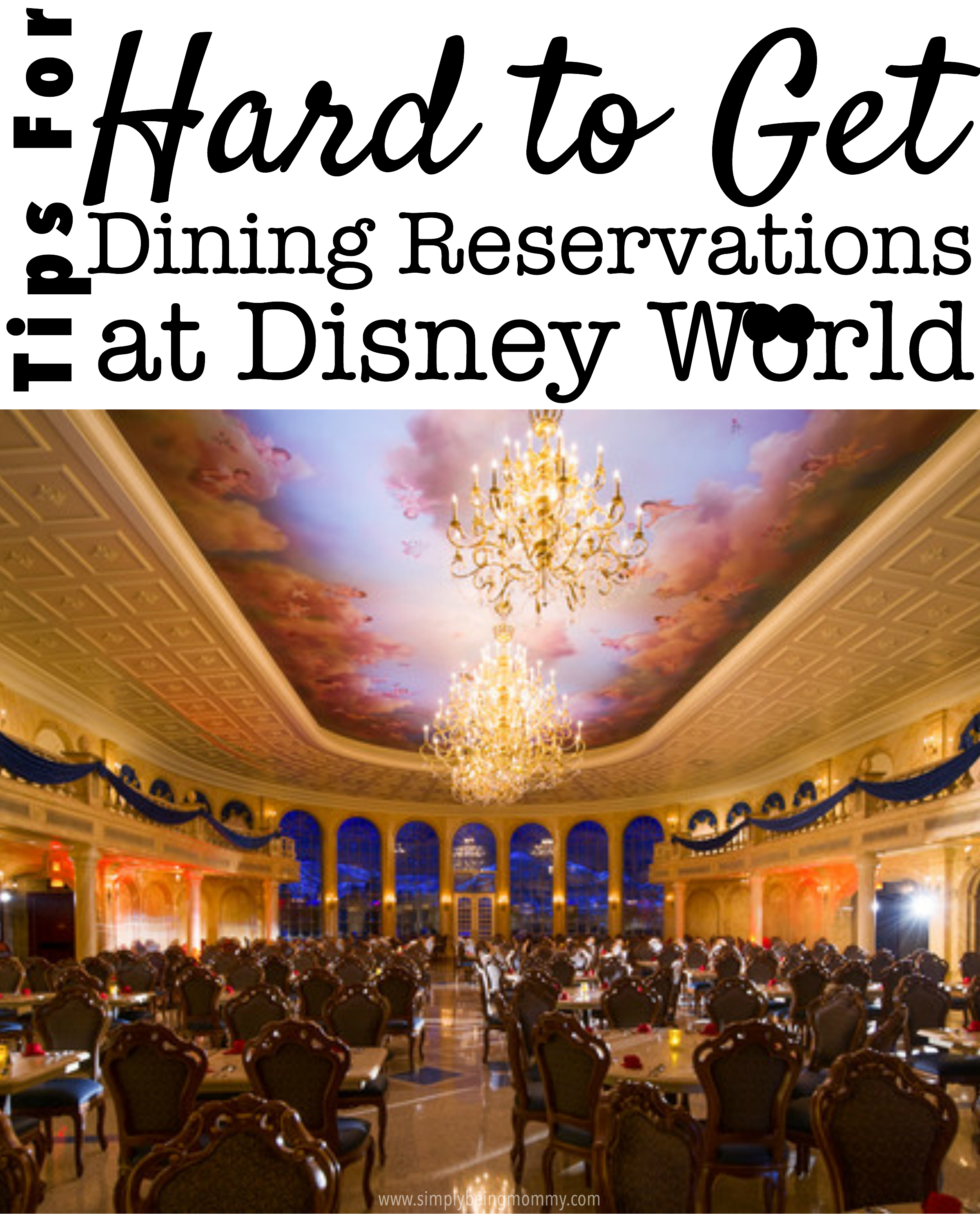 Your Disney vacation has to be perfect, right? Melanie shares these tips for hard to get dining reservations at Disney World.