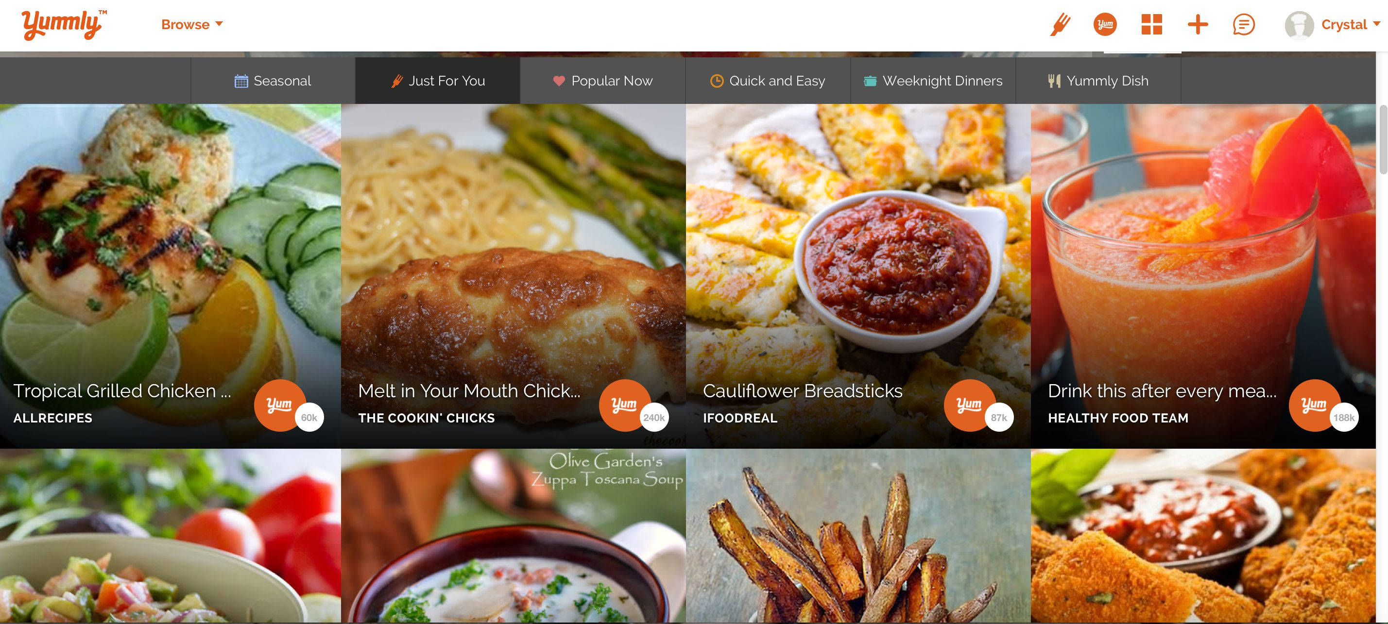 How to use Yummly to save recipes to your online recipe box.