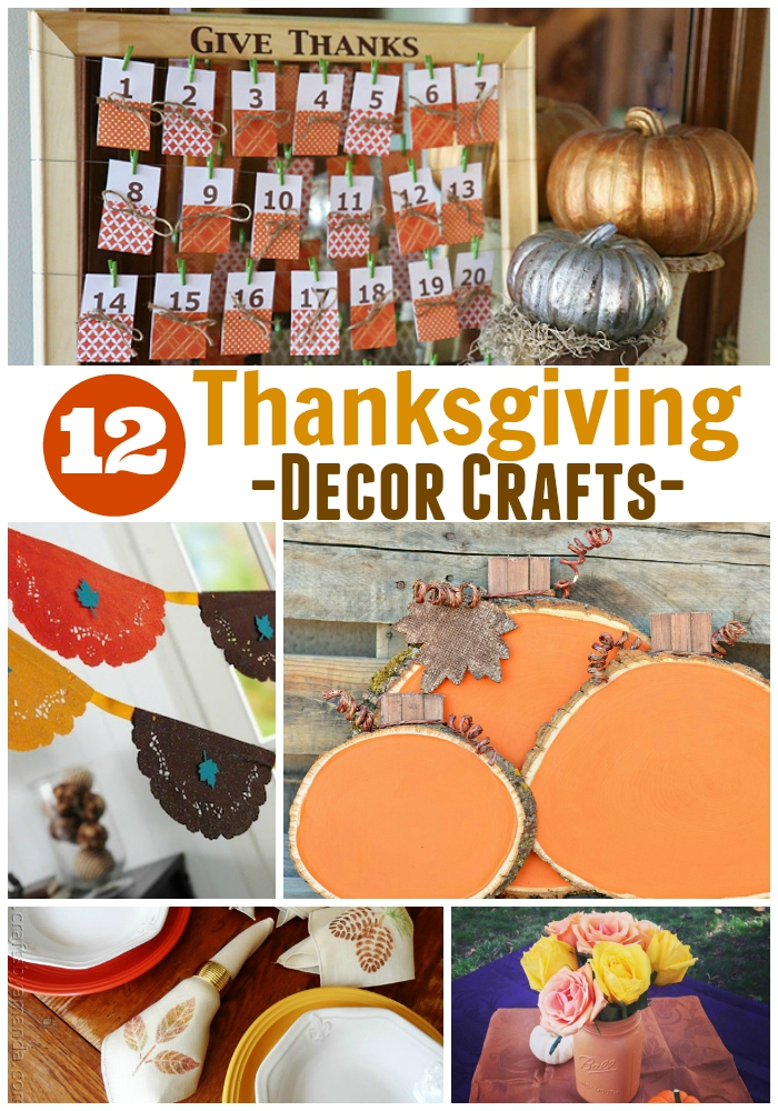 Get your home Thanksgiving ready with these 12 Thanksgiving Decor Crafts from around the web.