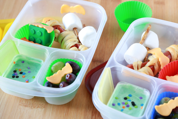 Create a fun Hotel Transylvania 2 bento lunch using foods you probably already have in your kitchen.
