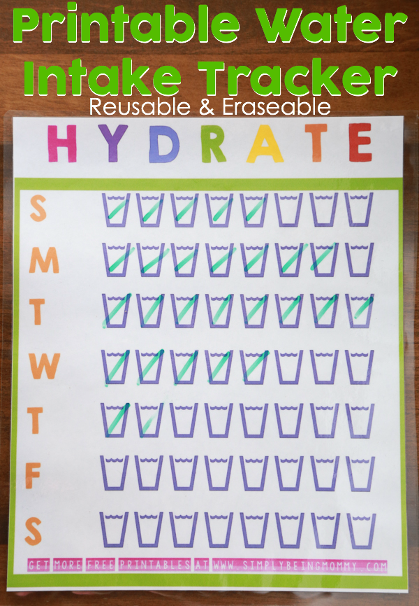 Staying healthy and ensuring you're getting enough water in your diet can sometimes be hard. Print out this free printable water intake tracker to stay on track of your daily water intake.