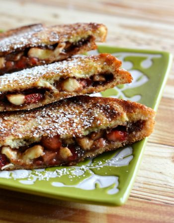 Strawberry-Banana Stuffed French Toast - the decadence breakfast deserves without all the fuss.