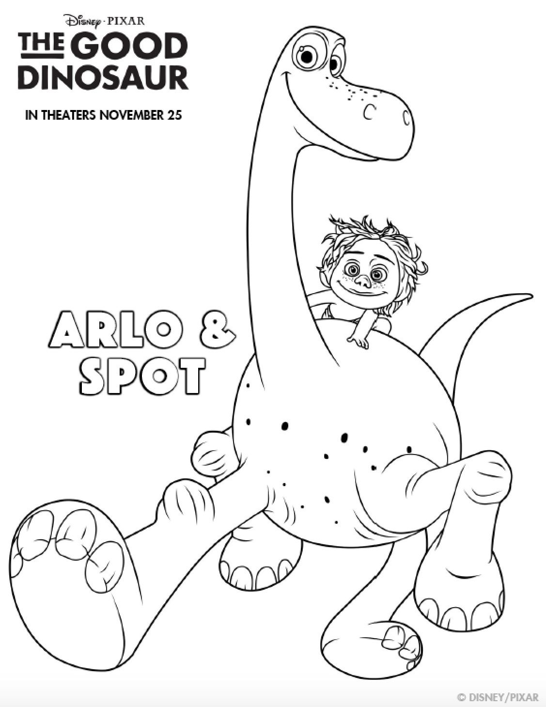 The Good Dinosaur Coloring Pages | Simply Being Mommy