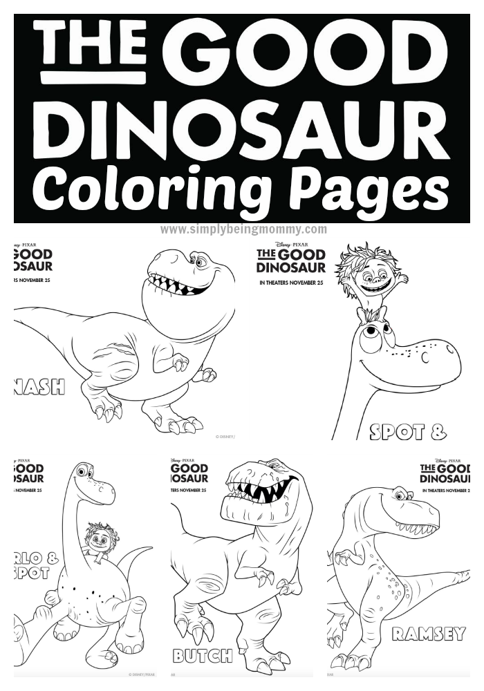 The Good Dinosaur Coloring Pages - Have fun with your children with these fun printable The Good Dinosaur Coloring Pages.