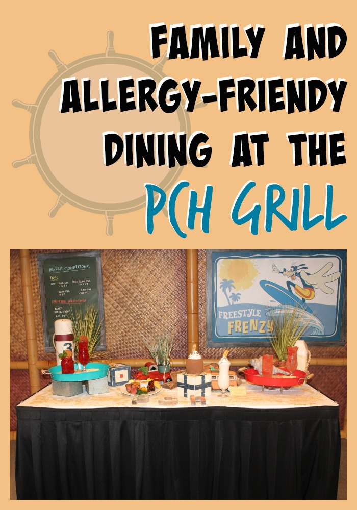 Family friendly and allergy friendly dining at PCH Grill at Paradise Pier Hotel.