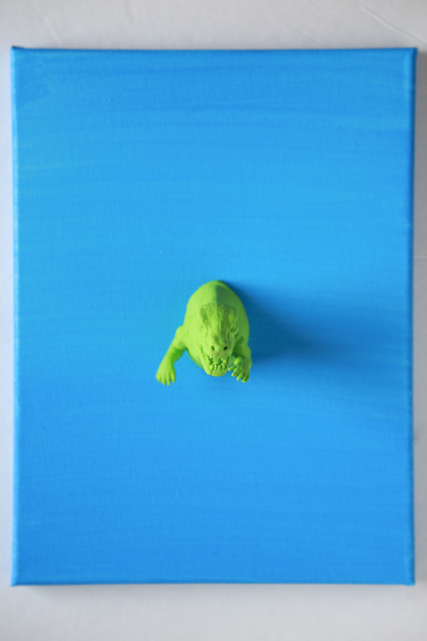 This 3D Dinosaur Canvas Art is quirky and fun and perfect for a child's room.