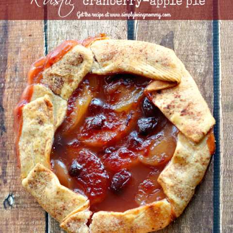 Easy Rustic Cranberry Apple Pie - the tastes you love without all the fuss! The easiest Rustic Cranberry Apple Pie you'll ever make!
