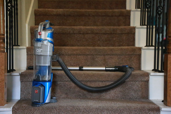 Hoover Air Cordless Lift Upright Vacuum - a slim profile, powerful vacuum that doesn't hold you back with cords!