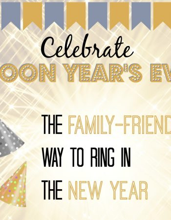 New Year's Eve celebrations really aren't family friendly. So what do you do when you have children? You host a Noon Years Eve party instead!