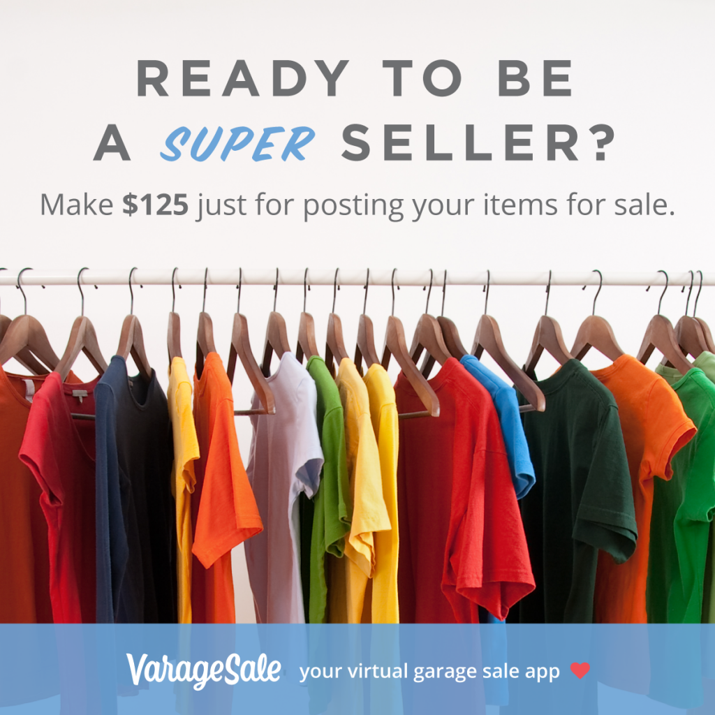VarageSale is the newest, hottest way to buy and sell online! Sign up and you're eligible to take part in two exciting promotions.