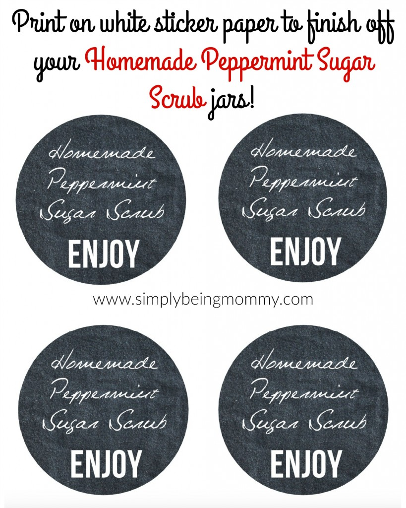 Make your own homemade peppermint sugar scrub quickly and easily! Gift or keep for yourself.