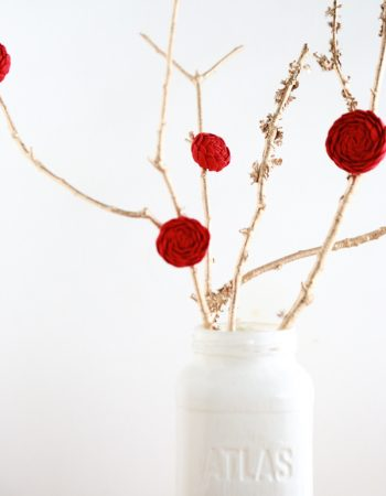 An elegant and stunning Valentine's Day decoration. Create this Easy Valentine's Day Tree Centerpiece with items sitting around your home and yard.