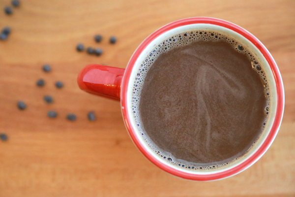 Made with the real deal, this Homemade Hot Chocolate with Chocolate Chips is the perfect, cold weather, snuggling on the couch kind of day!