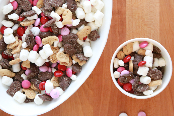 Make a non-messy smores mix with this easy to make Valentine's S'mores Mix. Minimal ingredients but so much to enjoy!