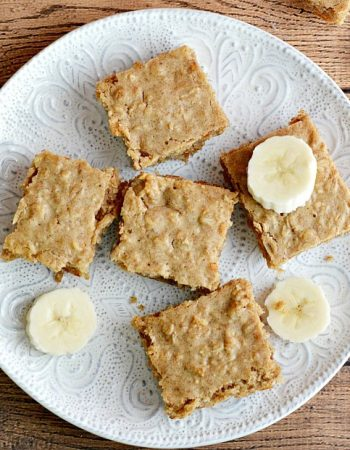 These easy Peanut Butter Banana Oatmeal Bars are a fun and easy way to get in your breakfast each morning.