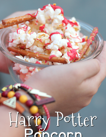 Harry Potter Popcorn - a salty and sweet popcorn concoction, perfect for any and all Harry Potter movie viewing parties.