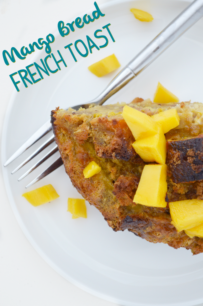 French Toast is a popular weekend breakfast dish. Try it with fruit with this Mango Bread French Toast recipe!