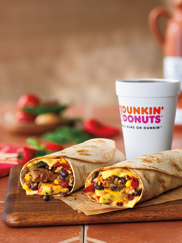 Big, bold, and bursting with flavor, the Dunkin' Donuts GranDDe Burritos are now avaiable for a limited time.