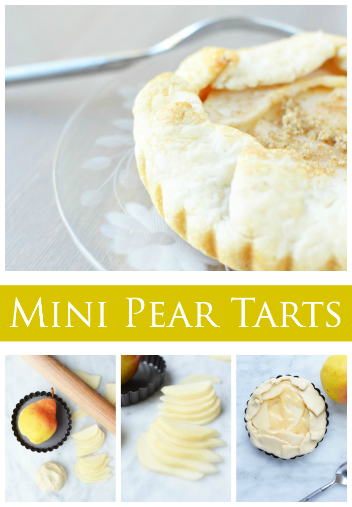 Mini Pear Tarts // These adorable, miniature tarts are perfect for parties. And the best part of these Mini Pear Tarts, they're easy to make.