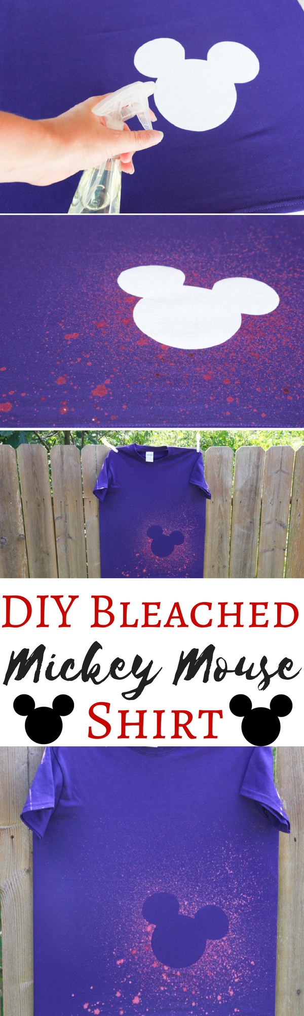 DIY Bleached Mickey Mouse Shirt
