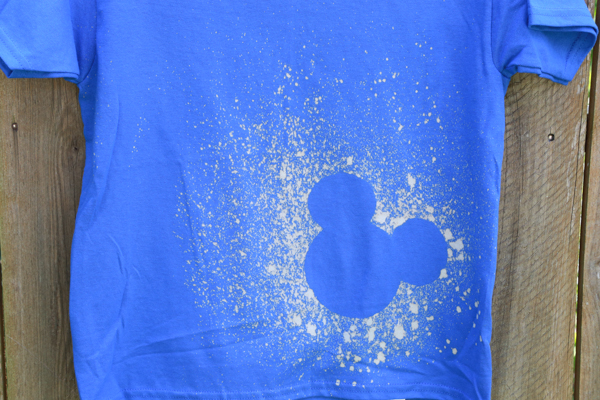 bleached Mickey Mouse Shirt