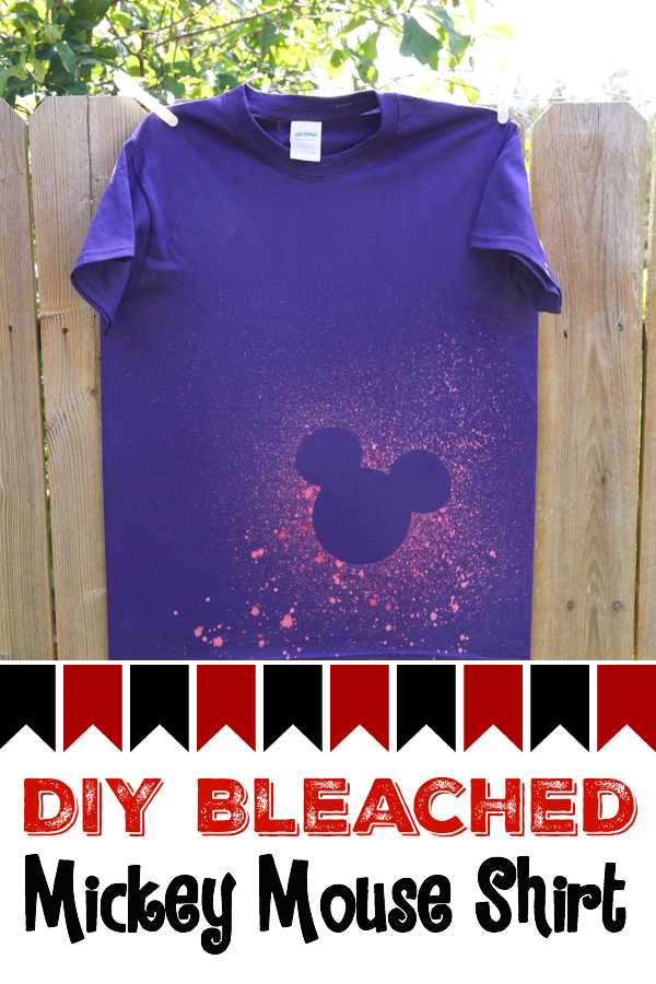 Skip the overpriced shirts at Disney World and make your own before you leave. This DIY Bleached Mickey Mouse shirt turned out great!